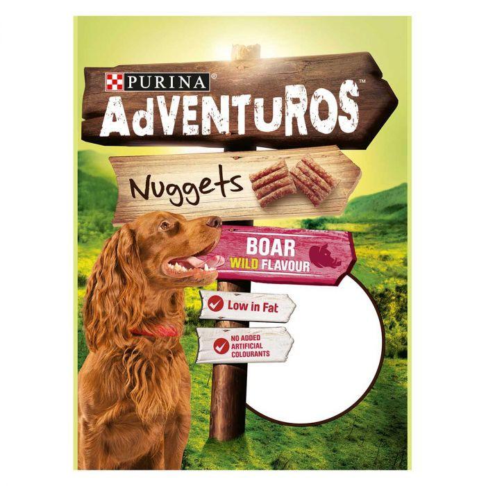 AdVENTuROS 90g Nuggets villisian makuinen makupala koiralle