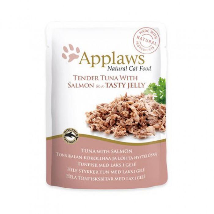 Applaws märkäruokapussi, tonnikala & lohi in a Tasy Jelly 70g