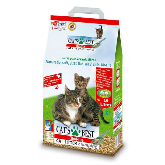 Cat's Best Öko Plus paakkuuntuva puuhiekka