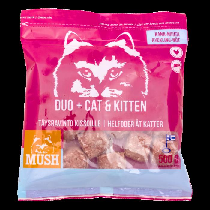 Duo+ Cat & Kitten täysravinto kissoille 500g