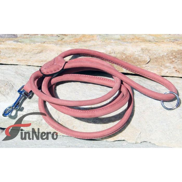 FinNero RONDO pyöreä nahkatalutin, roosa