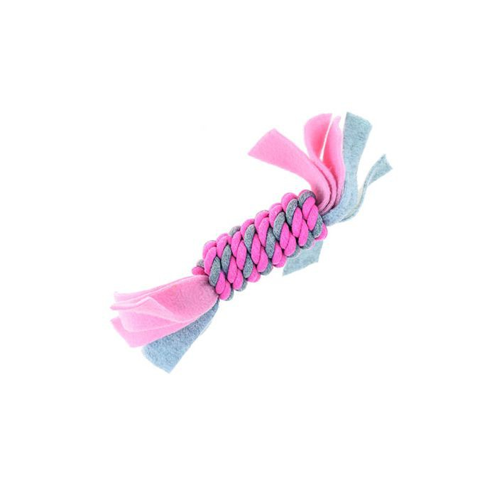 Little Rascals Fleecy Rope Coil Pink