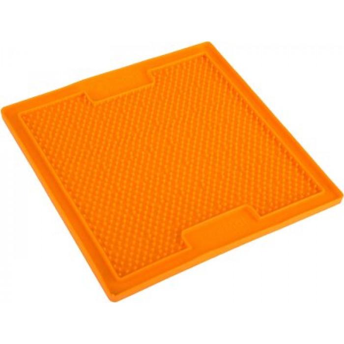 LickiMat Soother nuolumatto aktivointiin 20*20cm (oranssi)