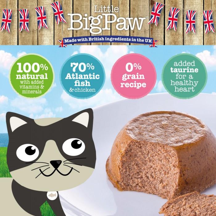Little BigPaw Mixed for cats (Salmon, Tuna, Ocean Fish) 6 x 85g