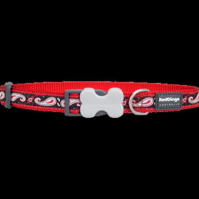 Koiran panta Design - Paisley Red with Black