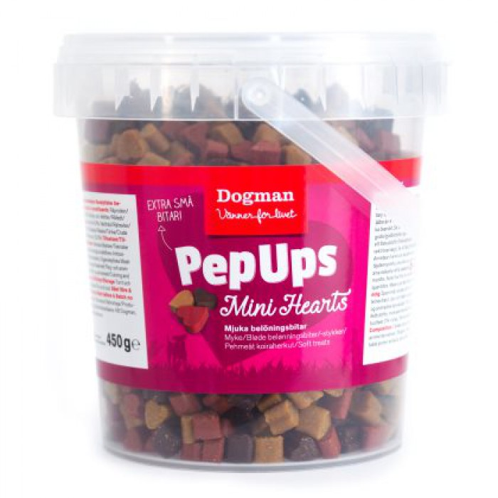 Pep Ups Mini Hearts 450g