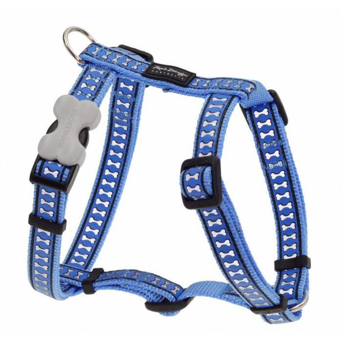 Koiran valjas Reflective, sininen