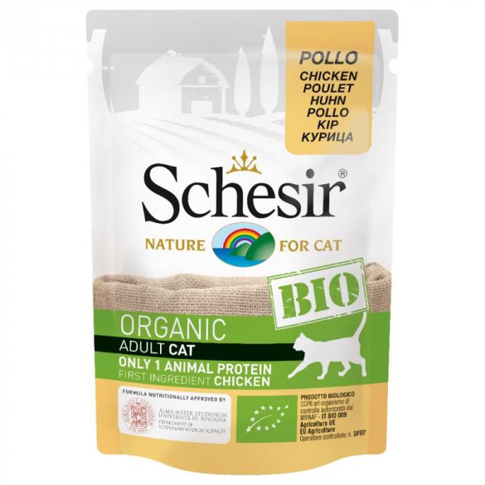 Schesir BIO Organic Adult Cat with Chicken 85g