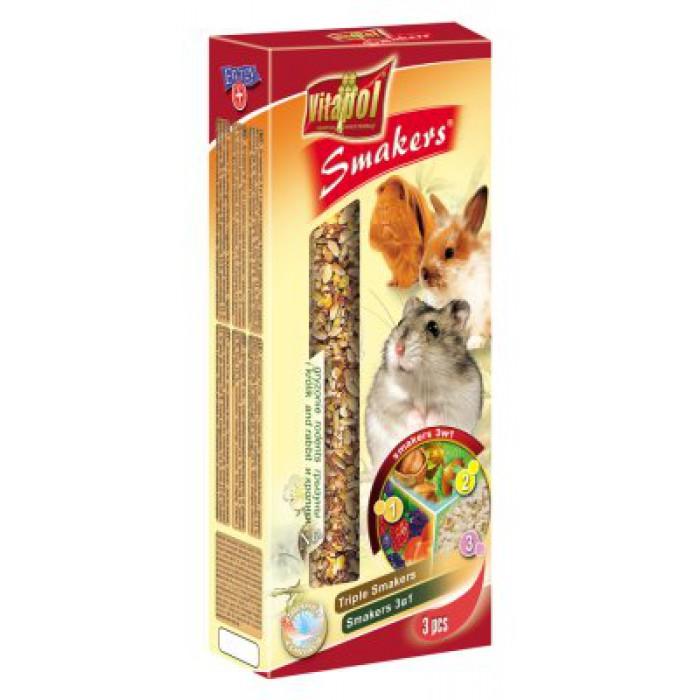 Pähkinä-metsämarjat-popcorn tangot 3kpl /pkt (135g)