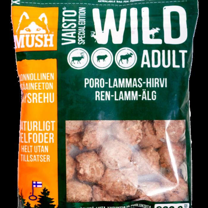 Mush BARF Vaisto Wild Tummanvihreä Poro-Lammas-Hirvi-ateria 800g