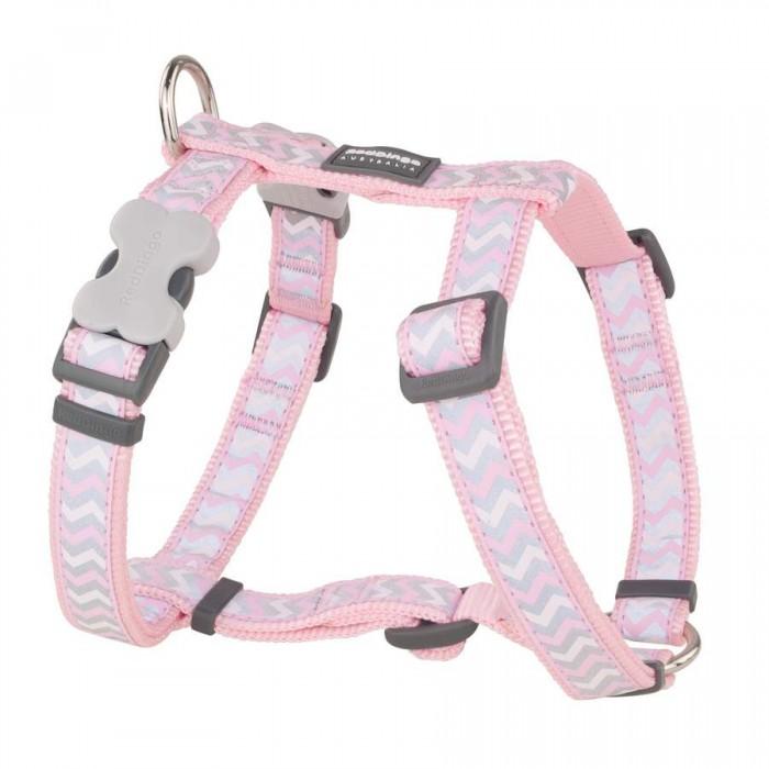 Ziggy Reflective koiran valjas, vaaleanpunainen