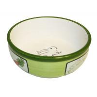 Keraaminen kaninkulho, vihreä 12.5x12.5x5cm