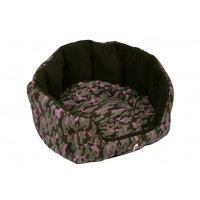 Camouflage Oval Bed - pinkki