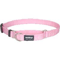 Koiran puolikiristävä panta Martingale, vaaleanpunainen