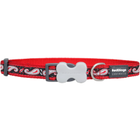 Koiran panta Design - Paisley Red with Black