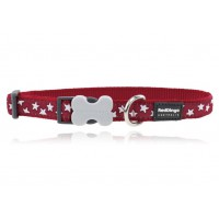 Koiran panta Design - Stars White on Red