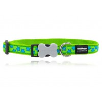 Koiran panta Design - Stars Turquoise on Lime Green