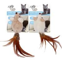 Classic comfort pehmohiiret höyhen hännällä ja kissanmintulla
