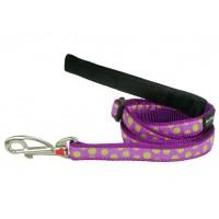 Koiran talutin Design - Green Spots on Purple
