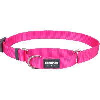 Koiran puolikiristävä panta - Martingale, hot pink