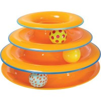 Petstages cat toy tower of tracks, 3 levels of play
