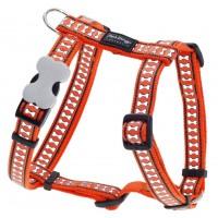 Koiran valjas Reflective, oranssi